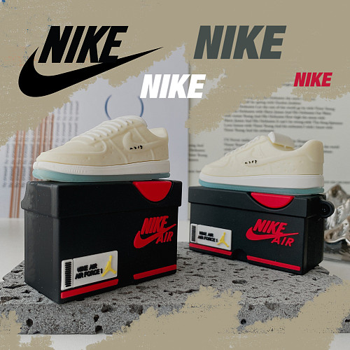 3D Silicon AirPods Cases For Gen 1/2 Pro Nike Air Force 1