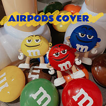 M&M's 3D Silicon AirPods Cases For Gen 1/2 Pro With Anti-lost Hook