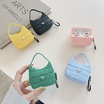 5 Colors Prada 3D Silicon AirPods Cases For Gen 1/2 Pro With Anti-lost Hook