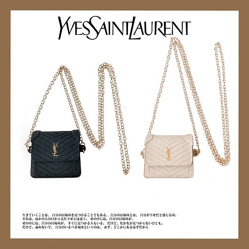 YSL Bag Design 3D Silicon AirPods Cases For Gen 1/2 Pro With Anti-lost Hook