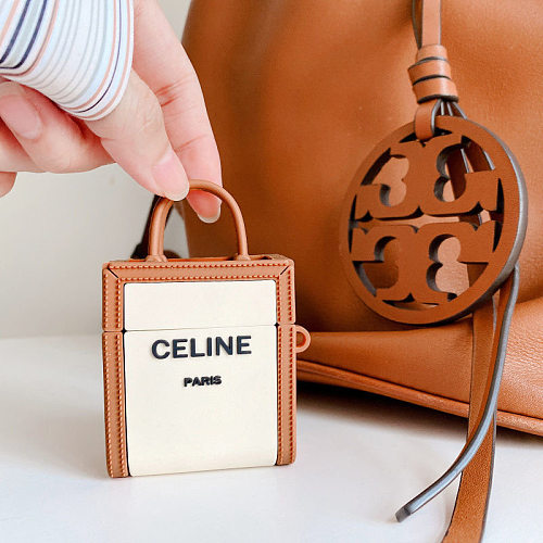 Celine Bag Design 3D Silicon AirPods Cases For Gen 1/2 Pro With Anti-lost Hook