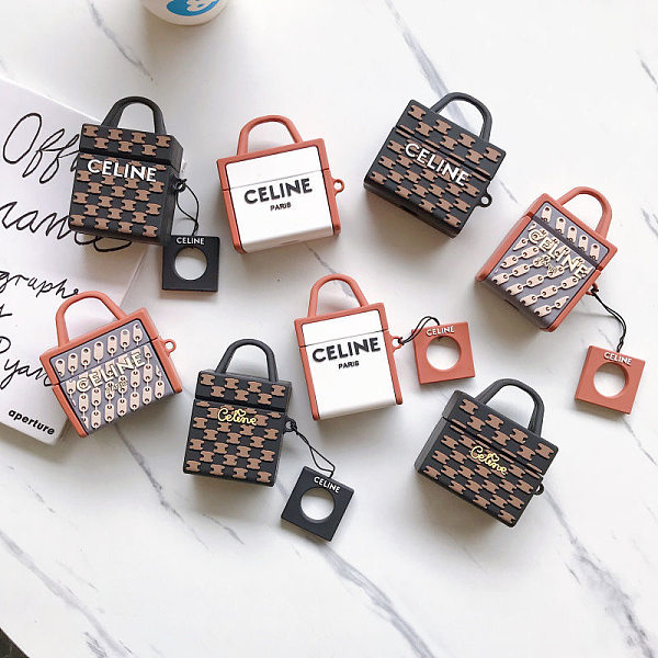 Celine Bag Inspired 3D Silicon AirPods Cases For Gen 1/2 Pro With Anti-lost Hook