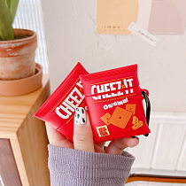 Cheezit Red 3D Silicon AirPods Cases For Gen 1/2 Pro With Anti-lost Hook
