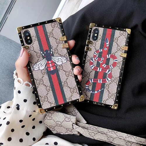 Snake Bee Designer Trunk Phone Case For Samsung Galaxy S8 9 10 11 21 Ultra Note 8 9 10 20 Ultra  Plus