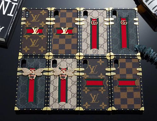LV GG Designer Trunk Phone Case For Samsung Galaxy S8 9 10 11 21 Ultra Note 8 9 10 20 Ultra  Plus Case With Lanyard