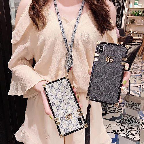 GG Metal Logo Designer Trunk Phone Case For Samsung Galaxy S8 9 10 11 21 Ultra Note 8 9 10 20 Ultra  Plus