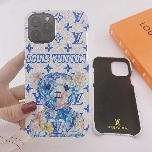 LV Bear iPhone 11 12 13 Pro Max Case 6 6s 7 8 Plus XS XR MAX Cover YOUBIAN