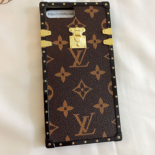 LV Brown Designer Trunk Phone Case For Samsung Galaxy S8 9 10 11 21 Ultra Note 8 9 10 20 Ultra  Plus Case With Lanyard