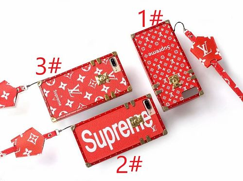 LV Sup Designer Trunk Phone Case For Samsung Galaxy S8 9 10 11 21 Ultra Note 8 9 10 20 Ultra  Plus Case With Lanyard