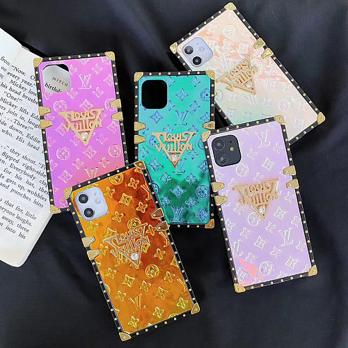 LV Patent Leather Designer Trunk Phone Case For Samsung Galaxy S8 9 10 11 21 Ultra Note 8 9 10 20 Ultra  Plus Case With Lanyard