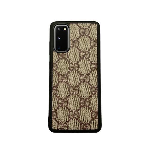 GG Designer TPU Phone Case For Samsung Galaxy S8 9 10 11 21 Ultra Note 8 9 10 20 Ultra  Plus Black