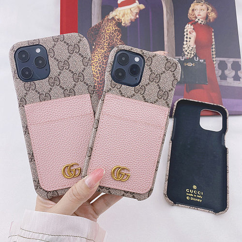GG Designer iPhone 11 12 13 Pro Max Case 6 6s 7 8 Plus XS XR MAX Cover With Card Pockets YOUBIAN