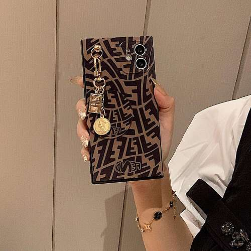 Fendi Square With Pendant iPhone Cases For 7 8 Plus XS XR MAX 11 12 Pro Max