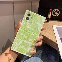 Dior  Square Single iPhone Cases For 7 8 Plus XS XR MAX 11 12 Pro Max