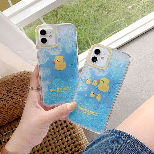 Duck Quicksand iPhone Cases For 6s 7 8 Plus XS XR MAX 11 12 Pro Max