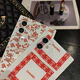 White Red Chanel  Square Single iPhone Cases For 7 8 Plus XS XR MAX 11 12 Pro Max