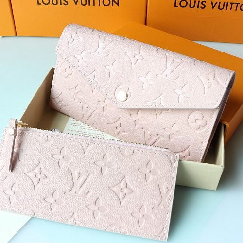 LV M60301 Two Pieces Curieuse Pink Wallet With Box 0727095