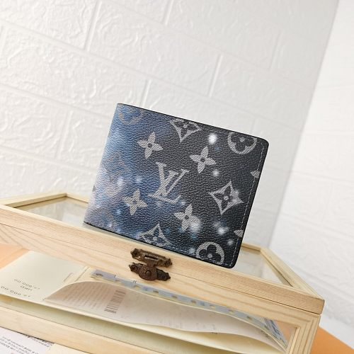 LV Starry Sky M60895/63025 Short Folded Wallets With Box 0727060