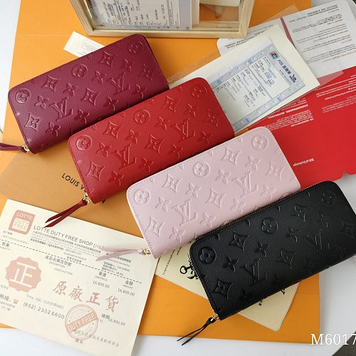 LV 4 Colors #Clemence M60017 Long Zipper Wallets With Box 0727080