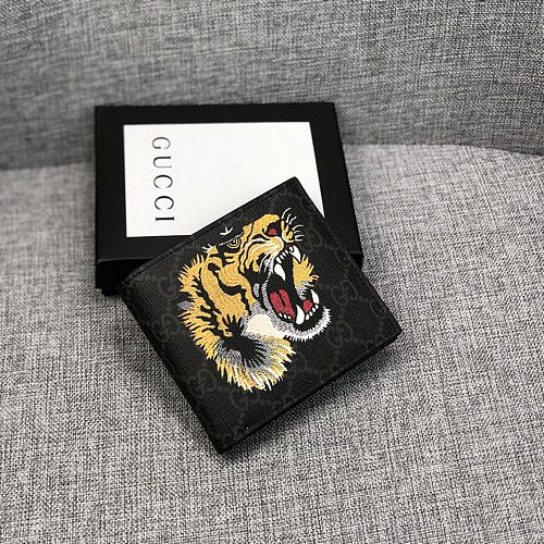 Gucci Tiger Pattern  Short Folded Wallets With Box 027070