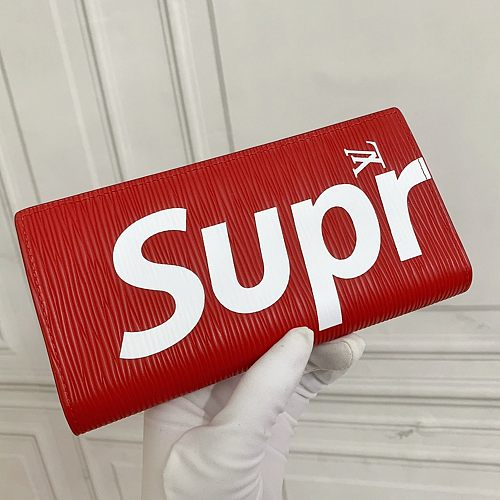 LV Red Supreme ZIPPY ORGANIZER M67540 Long Folded Wallets With Box 0727065