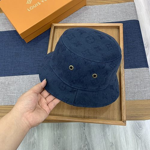 Louis Vuitton LV  Double Side Fishman Hat Dark Blue