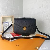 Louis Vuitton Embossed Metis Shoulder Bag M40780 Black