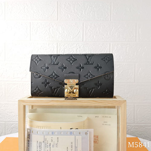 LV M58414 Classical Monogram Long Folded Wallets With Box
