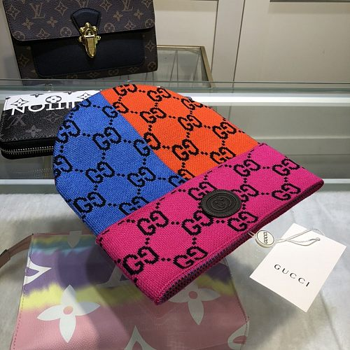 GG Designer Knitted hat Multi-color matching hat