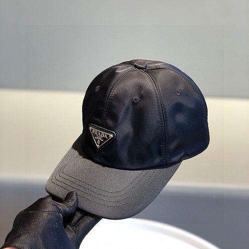 Prada Designer Cap Hat Black