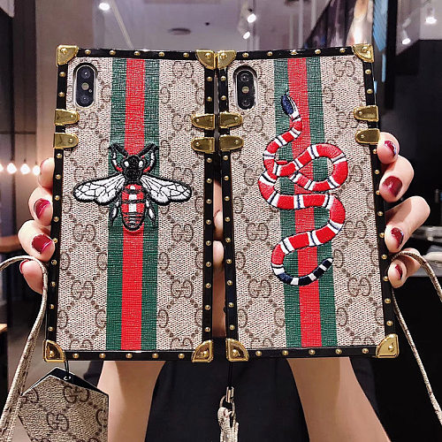 GUCCI TRUNK PHONE CASE FOR IPHONE 13 12 11 PRO MAX XR XS 7 8 PLUS