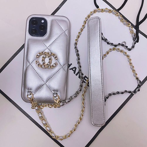 CHANEL PHONE CASE FOR IPHONE 13 12 11 PRO MAX XR XS 7 8 PLUS WITH LANYARD