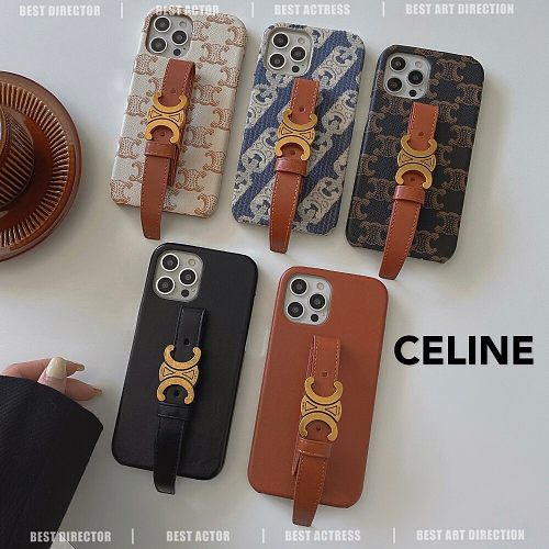 Celine IPHONE CASE FOR IPHONE 13 12 11 PRO MAX XS MAX XR XS 7 8 PLUS WITH WRIST STRAP