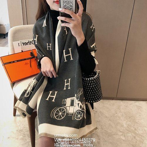 HERMES Scarf Letter H Shawl designer hermes scarf