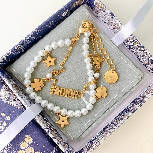 DIOR BRACELET  WITH GIFT BOX 2 COLORS