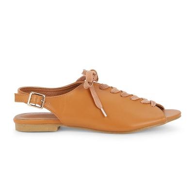 Women PU Sandals Casual Peep Toe Adjustable Buckle Shoes