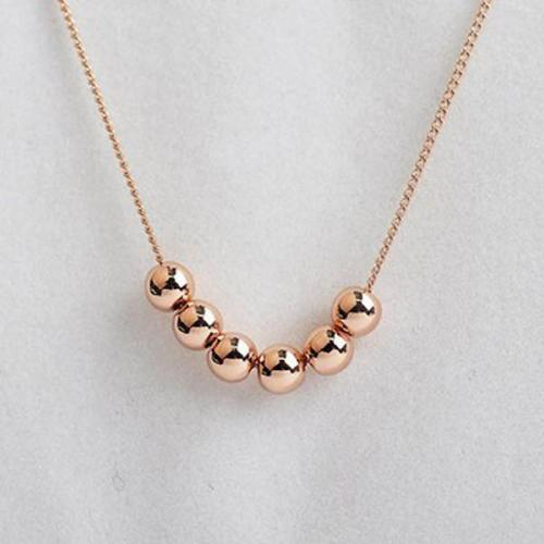 Transport Beads 18K Gold Plated Chain Pendant Necklace For Woman