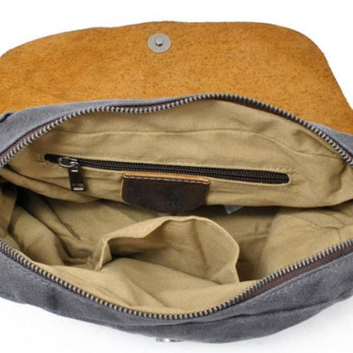 Casual Women Canvas Portable Khaki Shoulder Bag