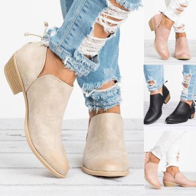Women Pu Boots Casual Daily  Chunky Heel Shoes