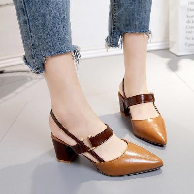 Dress PU Chunky Heel Buckle Sandals