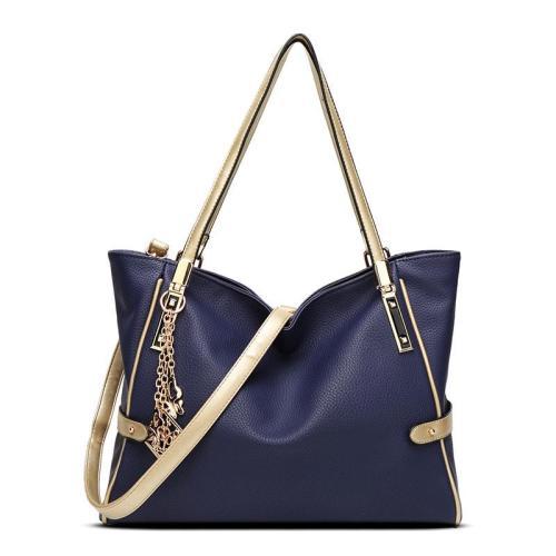 Elegant Tassel Womens Zipper Casual PU Tote Bags