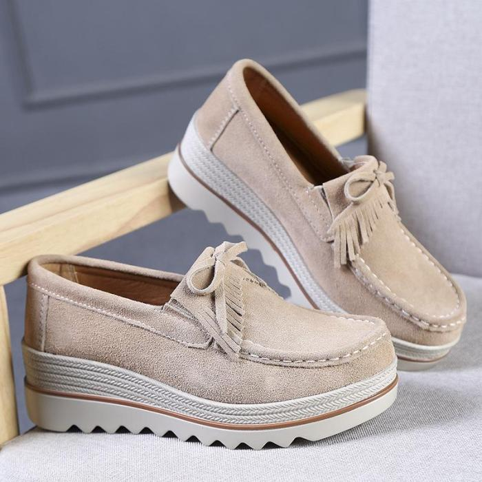 Artificial Leather Wedge Heel Casual Summer Platfoms