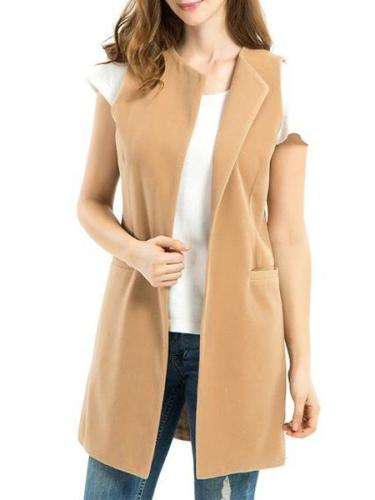 Sleeveless Loose Wool Woolen Jacket Outwear