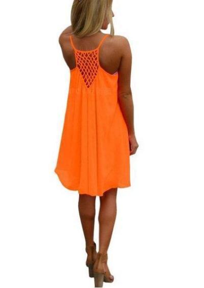 Resort High Low Crocheted Plus Size Dress