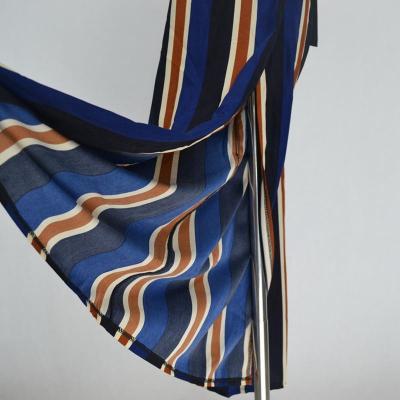 Loose Fit Bow Tie Striped Print Wide Leg Pants High Side Slit Drawstring