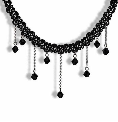 Vintage Retro Collar Choker Bib Beads Pendant Crystal Chain