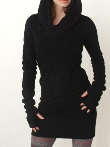Plain Casual Stylish Hooded Hoodies