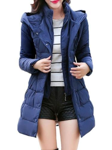 Comfortable Hooded With Pockets With Zips Overcoat