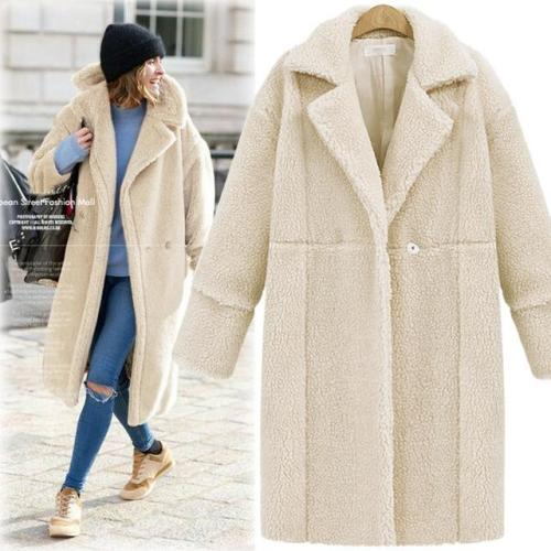Thick Woolen Coats Blends Jackets Slim Casual Overcoat