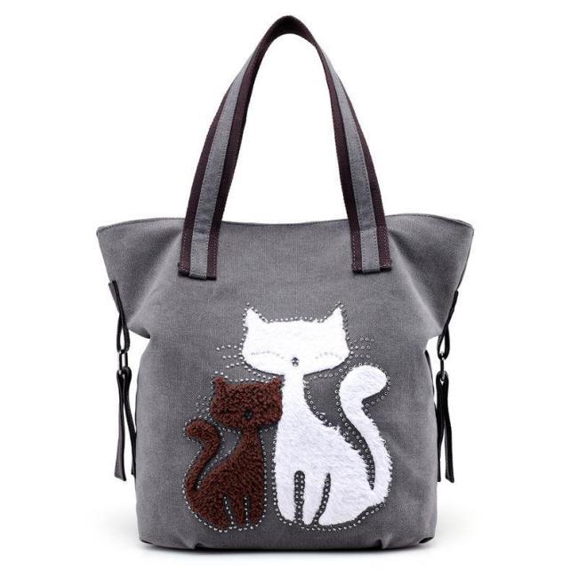 Womens Cute Canvas Casual Zipper Shoulder Bags